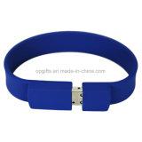 Disco del pollice U dell'azionamento del bastone di memoria Flash del USB del braccialetto del silicone di modo