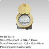 丸型の銅合金146*146mmの電気床のソケットアウトレット
