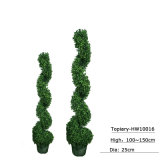 Piante di POT artificiali degli alberi del Topiary del Boxwood delle sfere del Buxus dell'erba del giardino