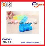 Neuer wöchentlicher bunter Plastikfach-Medizin-Pille-Kasten des halter-21