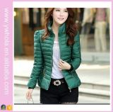 Moda Mulheres Inverno Outwear Stand Colar Puffer Down Jacket (14315)