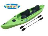Nouveau design chaud 2 + 1 assis Kayak de pêche