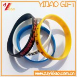 Силикон таможен OEM выбитый/Debossed/напечатанный Wristband логоса для выдвиженческого