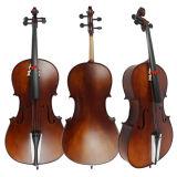 Brown escuro todo o instrumento musical contínuo de preço de grosso do violoncelo