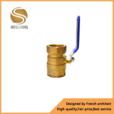 Латунной шариковый клапан Dn32 кислорода управляемый рукояткой