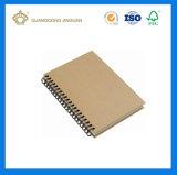 Caderno espiral da cópia do nome de Logotipo ou Companhia (fábrica profissional da impressão do caderno)