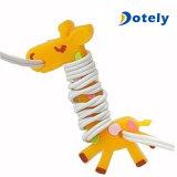 Encargado de la cuerda de la jirafa de la devanadera del cable del auricular para Earbuds