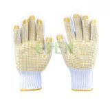 2017 перчатка МНОГОТОЧИЯ 100%Cotton PVC Китая, перчатки работы, перчатки хлопка