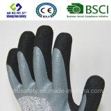 13G Hppe/двойник вкладыша стеклянного волокна окунули перчатки безопасности покрытия нитрила Sandy