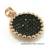 Form-Zubehör-Ohrring mit schwarzer Spinel Sonnenblume-Form (SE3315B)