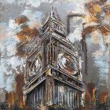 ロンドンのビッグベンのための3D金属の絵画