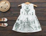 Kleine Mädchen-Sommer umsäumt Kinder gedruckte Prinzessin Dress