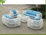 Moderne Art-im Freienmöbel-elegantes Rattan-Garten-Flechtweiden-Sofa