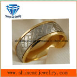 De Gouden Ring Van uitstekende kwaliteit van de Gravure van het Titanium van de Juwelen van Shineme 18k