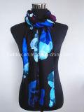 Верхняя продавая повелительница Шарф модного голубого печатание Flourish Viscose (HWBVS049)