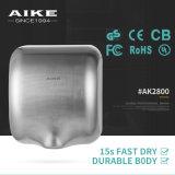 La electrónica Xlerator de la aplicación AK2800 iguales labra el secador montado en la pared de la mano del acero inoxidable de Touchless