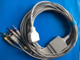 Câble du CEI DIN3.0 EKG/ECG de Fukuda 15pin