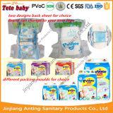 Tecidos impressos barato brandamente descartáveis quentes do bebê da venda