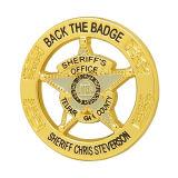 La polizia dello sceriffo rotondo dell'oro Badge
