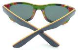 Lente polarizada Sunglass de madeira do espelho do pavão da qualidade Fqw162880