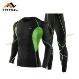Camicia lunga e Legging del vestito di usura di sport degli uomini per ginnastica