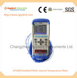 Fornecedor do medidor Multi-Channel Handheld da temperatura (AT4208)