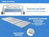 Reizbares manuelles Bett des Krankenhaus-3 mit vierteiligem Stahlbett-Vorstand (GT-BM3621)