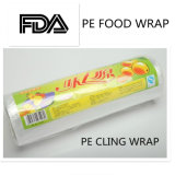 El PE de la fabricación de la fábrica se aferra película del abrigo del alimento, abrigo plástico del alimento