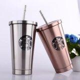 De Mok van de Kegel van de Koffie van Starbucks van het Roestvrij staal van de Kleur van de douane met Deksel (sh-SC04)