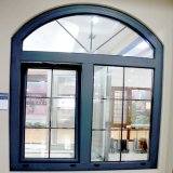 Guichet en verre de tissu pour rideaux de Lowes de bâti en aluminium anodisé par couleur en bois avec la pièce de rond fixe