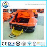 Balsa salvavidas inflable aprobada ISO 9650 para el yate
