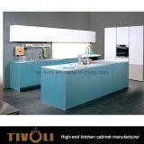 Cabinas de cocina de madera naturales de la chapa y Contertops de piedra Tivo-0199V