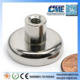 内部通されたスタッド磁気アセンブリが付いているネオジムの鍋の磁石