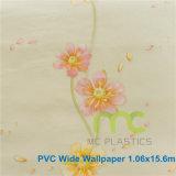 Papel de parede decorativo do vinil do PVC, projeto novo