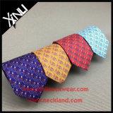 Gravatas coloridas impressas seda do Mens