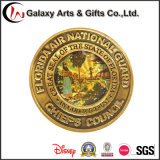 習慣は金属メッキの金によって磨かれる黄銅が付いているメダルを鋳造する
