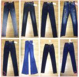 Calças de brim das mulheres de uma forma de 9.4 onças (HY2355-08T)