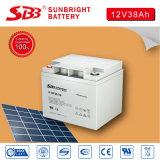 Batterie profonde 12V38ah de cycle de batterie de SBB pour le système solaire