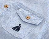Camice di cotone rotonde del collo del ragazzo della banda di Homewear dei bambini di modo