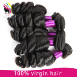 上の販売3束のペルーのバージンの毛の緩い波の加工されていないペルーの緩い波100g/PCの安いペルーの毛の織り方の束