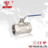 robinet à tournant sphérique d'amorçage de l'acier inoxydable 1-PC