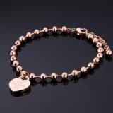 カスタマイズされた宝石類の方法女性のビードの鎖のハート形の魅力のブレスレット