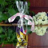De douane Afgedrukte Transparante Vlakke Zak van de Bodem BOPP voor de Verpakking van het Suikergoed van de Gift