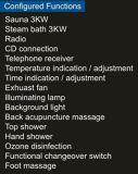 Sauna combinada vapor com chuveiro (AT-D8856-1)