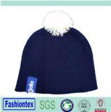 冬のアクリルの帽子のニットの帽子