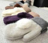 Новой перчатка кролика прибытия 2016 связанная шерстью с Pompom