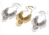 &#160 ; Bijou Exaggerated de collier de rapport de gland de Rhinestone d'alliage d'antiquité de mode