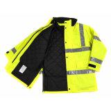 Куртка Hi-Визави проложенная безопасностью отражательная работая для людей