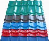 Placa de azotea colorida de la hoja de acero de PPGI/del metal de la fabricación