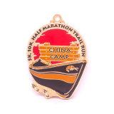 Medalha Running da maratona do metal da carcaça com colhedor